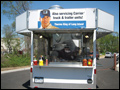 our mobile food trucks can be customized with your logos and banners
