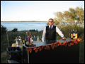 outdoor wedding picture featuring the bar