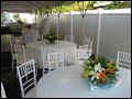 off premise wedding catering dinner tables
