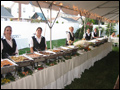 long island wedding buffet style catering ready to serve the guests