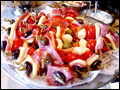 Antipasto skewers catered for a graduation party
