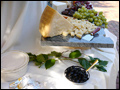 Antipasto table set for a cocktail hour at a beautiful Long Island wedding