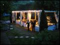 beautiful backyard wedding at night