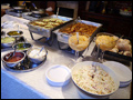 quesadilla station at a catered Long Island graduation party