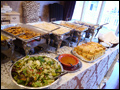 buffet style catering at a graduation party on Long Island