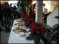 Christmas party with catered appetizers