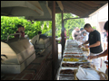 Long Island bbq caterer setup
