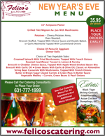 new years eve catering menu