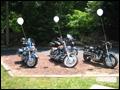 backyard motorcycle wedding