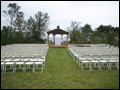 nature's chapel for an outdoor wedding catered by Felico's