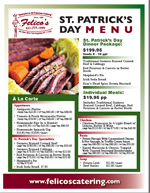 st patricks day catering menu