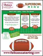 superbowl catering menu