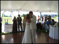 backyard wedding first dance