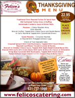 thanksgiving catering menu