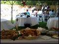 long island wedding catering appetizer table