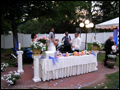 long island wedding catering- happy bride and groom